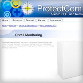 Protectcom website header